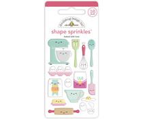 Doodlebug Design Baked With Love Shape Sprinkles (7093)