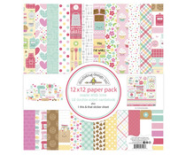 Doodlebug Design Made With Love 12x12 Inch Paper Pack (7127)