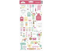 Doodlebug Design Made With Love Icons Sticker (7112)