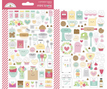 Doodlebug Design Made With Love Mini Icons Sticker (7103)