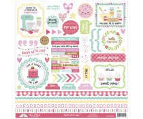 Doodlebug Design Made With Love This & That Sticker (7113)