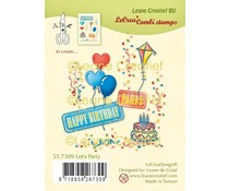 Leane Creatief Let's Party Clear Stamps (55.7309)