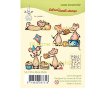 Leane Creatief Mice Party Clear Stamps (55.7316)