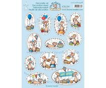 Leane Creatief The World of Mice Let's Party (10pcs) Decoration A4 Sheets (50.7361)