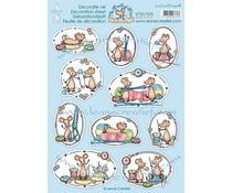 Leane Creatief The World of Mice Made of Wool (10pcs) Decoration A4 sheets (50.7378)