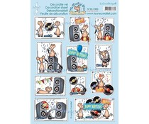Leane Creatief The World of Mice Play the Music (10pcs) Decoration A4 sheets (50.7385)