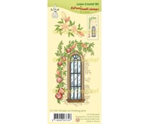 Leane Creatief Window With Climbing Plant Clear Stamps (55.7347)