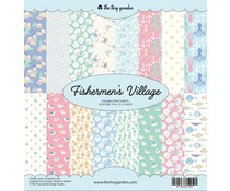 The Tiny Garden Fishermen's Village 12x12 Inch Paper Pack (TTG003)