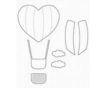 My Favorite Things Heart Air Balloon Die-namics (MFT-1911)