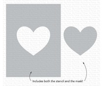 My Favorite Things Heart Extraordinaire Stencil (ST-148)