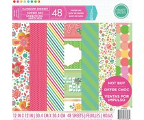 Craft Smith Rainbow Sherbet 12x12 Inch Paper Pad (MPP0062)