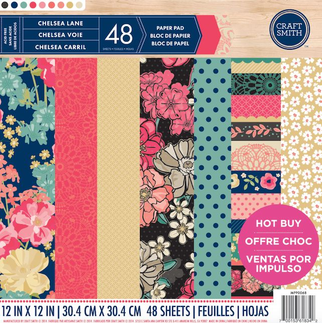 Craft Smith Chelsea Lane 12x12 Inch Paper Pad (MPP0068