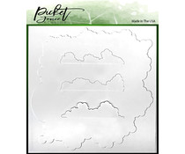 Picket Fence Studios Cloud Coverage 6x6 Inch Stencils (SC-210)