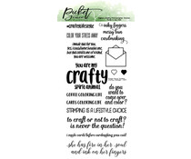 Picket Fence Studios Crafty Lifestyle 4x8 Inch Clear Stamps (S-177)