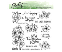Picket Fence Studios Que Sera, Sera 6x6 Inch Clear Stamps (F-145)