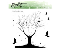 Picket Fence Studios The Sleeping Tree 6x6 Inch Clear Stmaps (F-146)