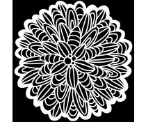 The Crafter's Workshop Cactus Dahlia 6x6 Inch Stencil (TCW927s)