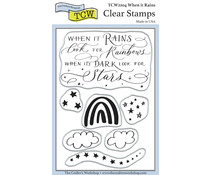 The Crafter's Workshop When It Rains 4x6 Inch Clear Stamp (TCW2204)