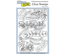 The Crafter's Workshop Sweet Sentiments 4x6 Inch Clear Stamp (TCW2206)