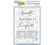 The Crafter's Workshop Sprinkle Kindness 4x6 Inch Clear Stamp (TCW2205)
