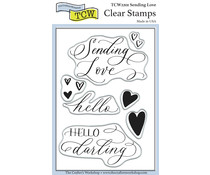 The Crafter's Workshop Sending Love 4x6 Inch Clear Stamp (TCW2201)