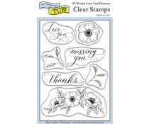The Crafter's Workshop Love You Flowers 4x6 Inch Clear Stamp (TCW2202)