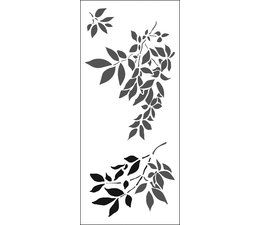 The Crafter's Workshop Gentle Leaves Slimline Stencil (TCW2300)