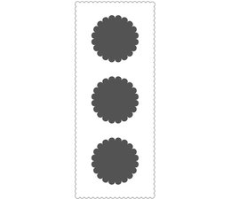 The Crafter's Workshop Scalloped Circles Slimline Stencil (TCW2310)