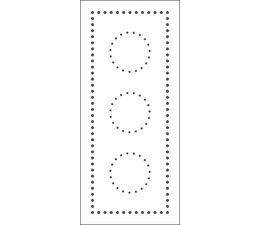 The Crafter's Workshop Dotted Circles Slimline Stencil (TCW2306)