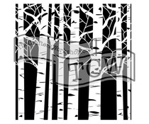 The Crafter's Workshop Aspen Trees 12x12 Inch Stencil (TCW252)