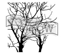 The Crafter's Workshop Branches Reversed 12x12 Inch Stencil (TCW251)