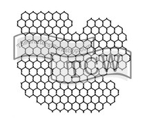 The Crafter's Workshop Chickenwire Reversed 12x12 Inch Stencil (TCW259)