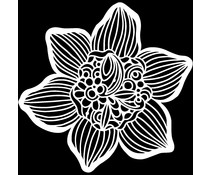 The Crafter's Workshop Cupped Daffodil 12x12 Inch Stencil (TCW930)