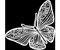 The Crafter's Workshop Joyous Butterfly 12x12 Inch Stencil (TCW933)