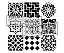 The Crafter's Workshop Moroccan Tiles 12x12 Inch Stencil (TCW385)