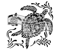 The Crafter's Workshop Sea Turtles 12x12 Inch Stencil (TCW610)
