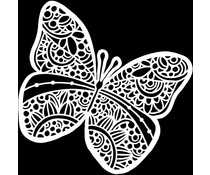 The Crafter's Workshop Sunny Butterfly 12x12 Inch Stencil (TCW934)