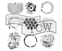 The Crafter's Workshop Well Rounded 12x12 Inch Stencil (TCW384)