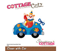 Scrapping Cottage Clown With Car (CC-864)