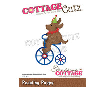 Scrapping Cottage Pedaling Puppy (CC-867)