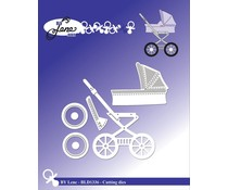 By Lene Baby Carriage Cutting & Embossing Dies (BLD1336)