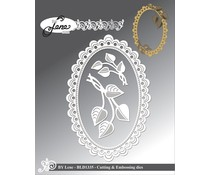 By Lene Frame With Leaves Cutting & Embossing Dies (BLD1335)