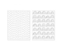 We R Memory Keepers Amy Tangerine Revolution Embossing Folder (2pcs) (661203)