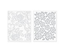 We R Memory Keepers Florals Revolution Embossing Folder (2pcs) (661200)