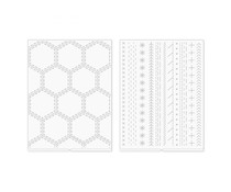 We R Memory Keepers Paige Evans Revolution Embossing Folder (2pcs) (661204)
