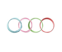 We R Memory Keepers Multi Color Happy Jig Wire 2.5mm (4pcs) (660600)