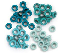 We R Memory Keepers Aqua Crop-A-Dile Standard Eyelet (60pcs) (41577-0)