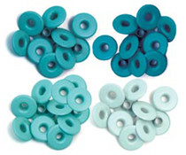 We R Memory Keepers Aqua Crop-A-Dile Wide Eyelet (40pcs) (41589-3)