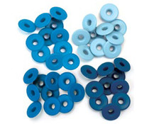 We R Memory Keepers Blue Crop-A-Dile Wide Eyelet (40pcs) (41590-9)