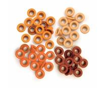 We R Memory Keepers Orange Crop-A-Dile Standard Eyelet (60pcs) (41574-9)